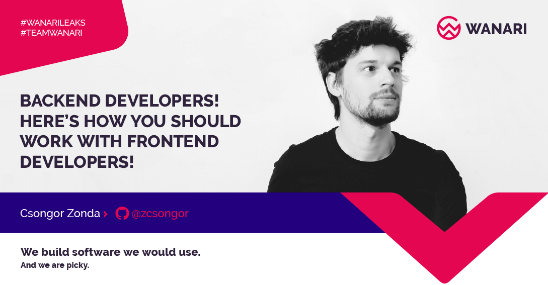 Backend developers! Here's how you should work with frontend developers!